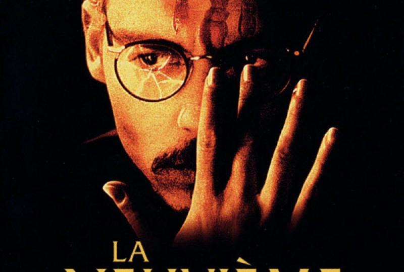 Affiche de cinéma du film La Neuvième Porte avec l'acteur Johnny Depp en couverture