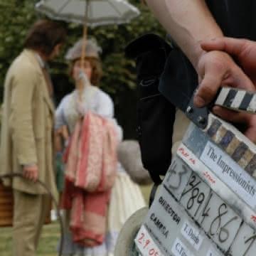 Photo du tournage du film The Impressionists de T. Dunn et M. Downes avec Richard Armitage et Sebastian Armesto