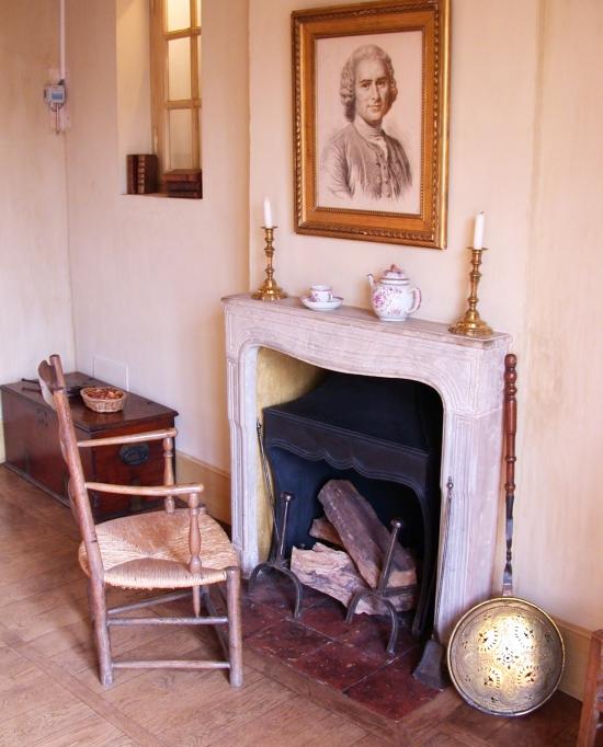 Photo de la salle à manger dans le musée Jean Jacques Rousseau