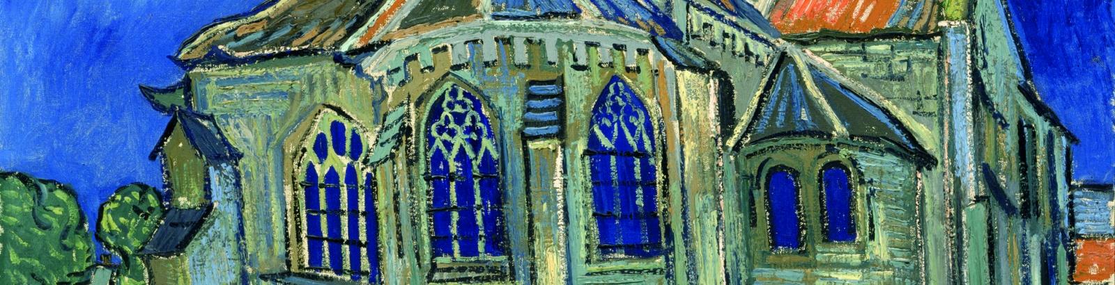 Tableau peint Eglise d'Auvers sur Oise par Van Gogh