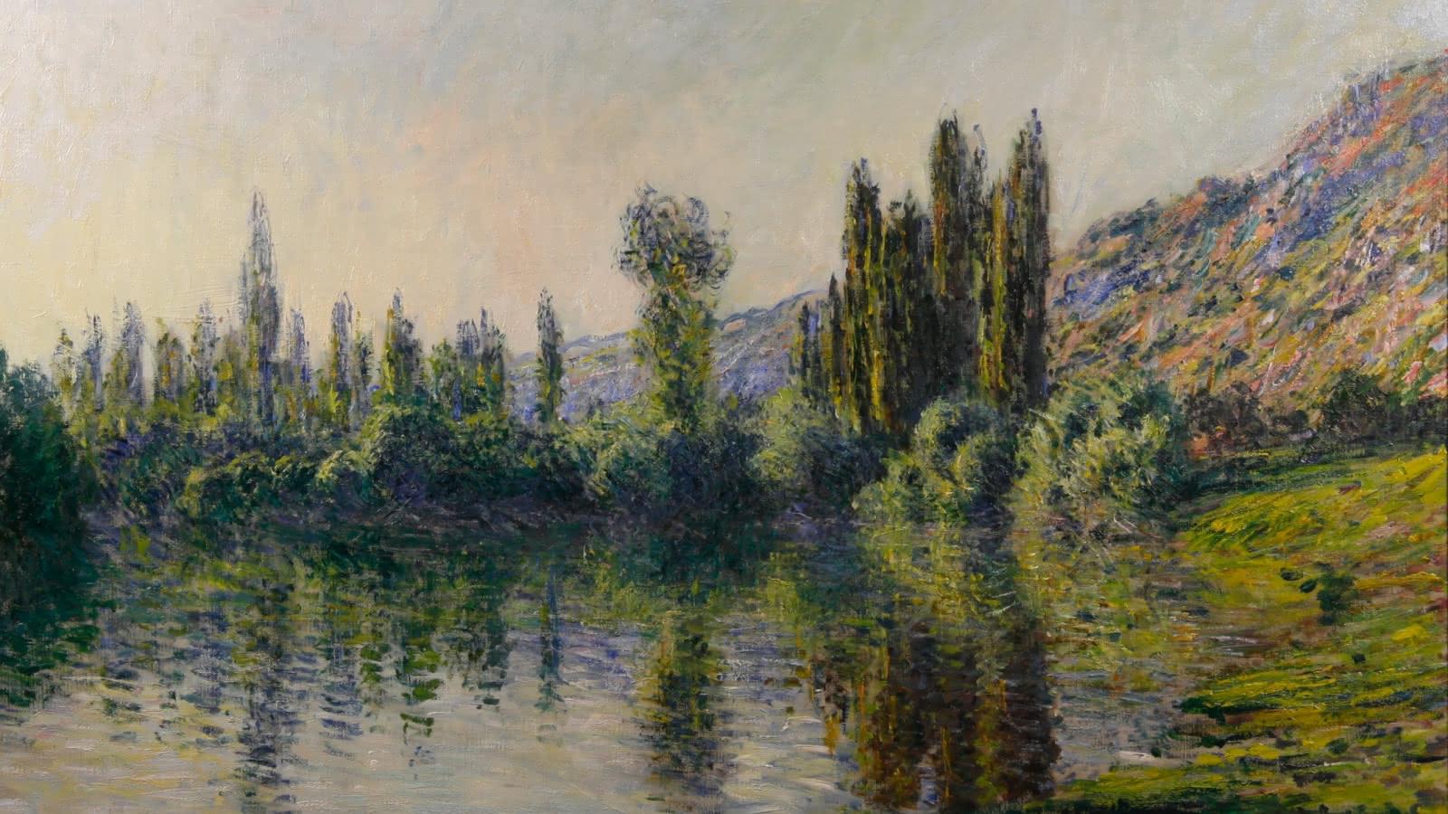 Peinture de Claude Monet La Seine à Vétheuil