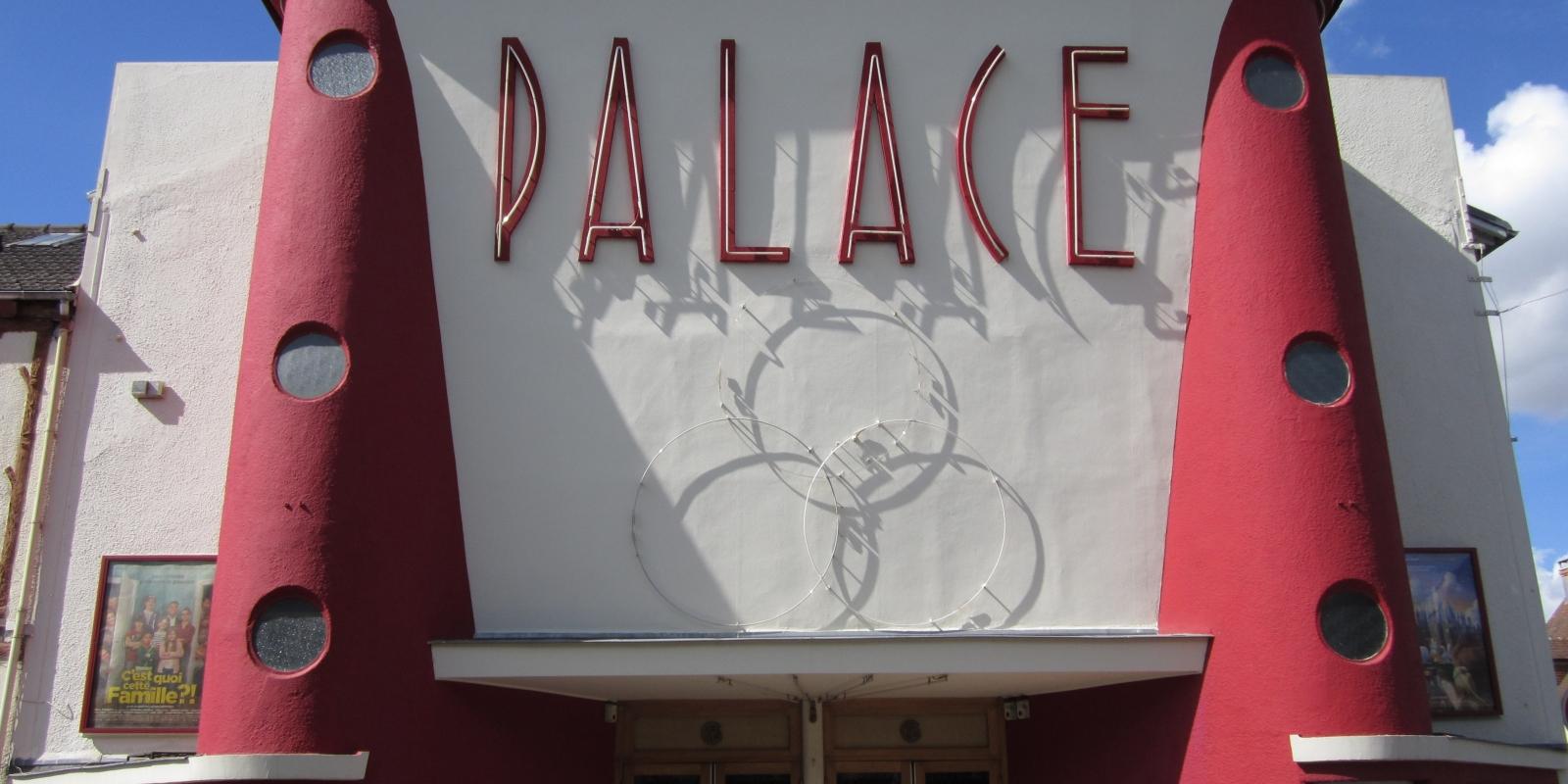 Photo de la devanture du cinéma Le Palace à Beaumont sur Oise