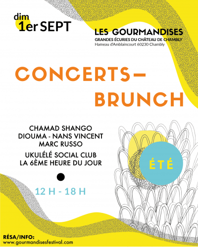 Affiche 2019 du festival Les Gourmandises d'été