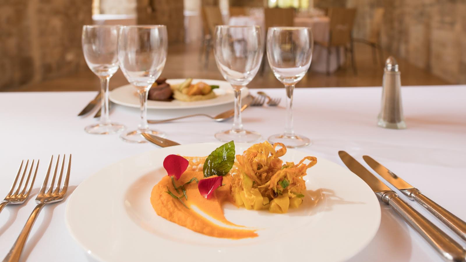 La carotte sous toutes ses formes à La Table de Royaumont