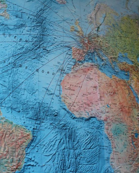 Photo de la mappemonde à Flight Sensations, Boissy l'Aillerie