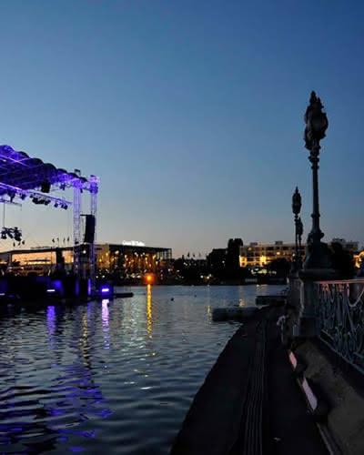 Photo du lac lors du Barrière Enghien Jazz Festival