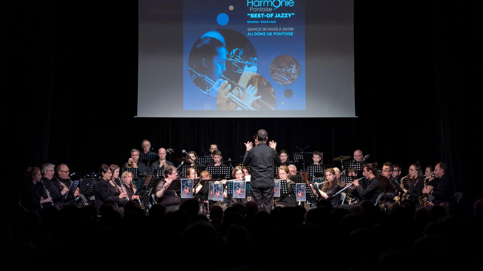 Photo de l'orchestre Harmonie de Pontoise prise lors du concert du 23 mars 2019