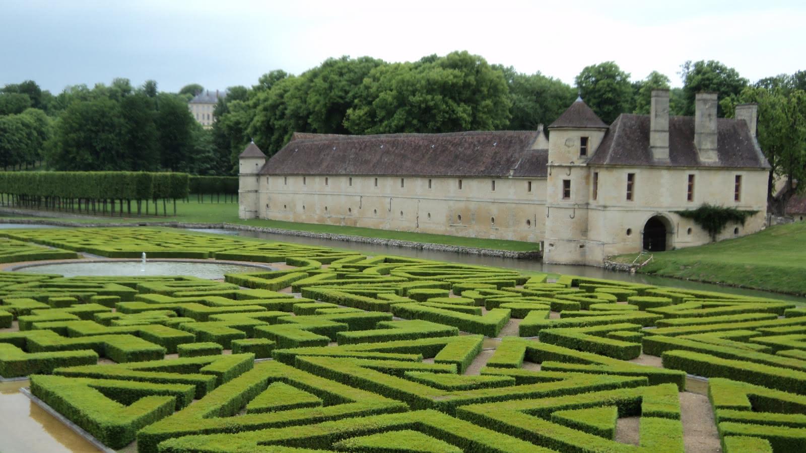 Photo du parc du domaine de Villarceaux en Mai 2010