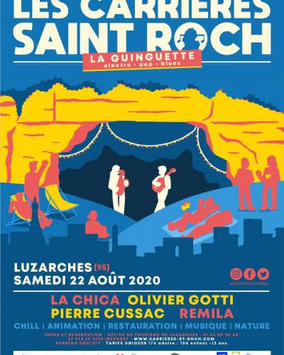 Affiche 'Les Carrières Saint-Roch font leur guinguette !' 2020