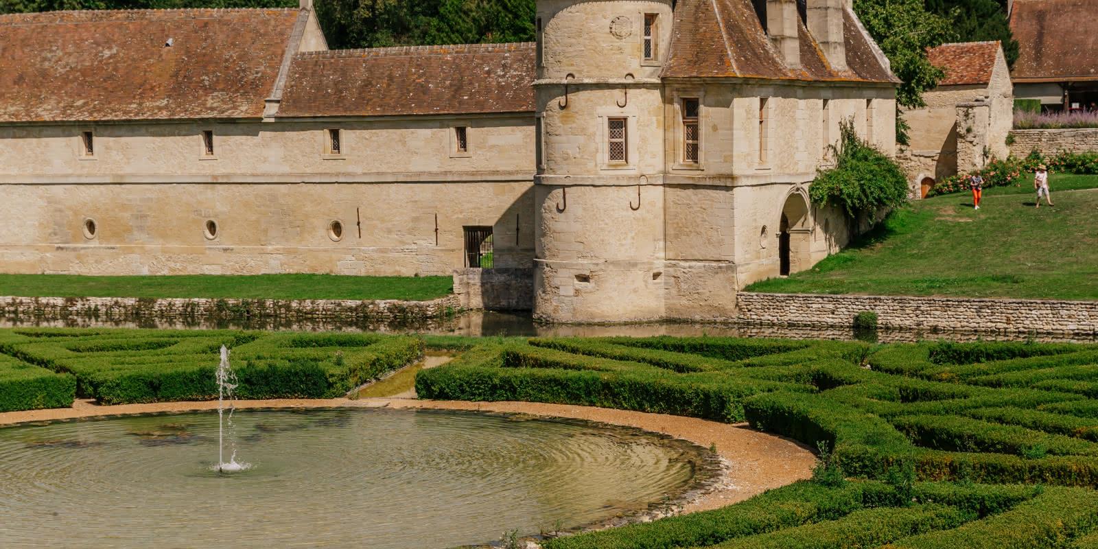 Photo d'extérieur du jardin et château de Villarceaux