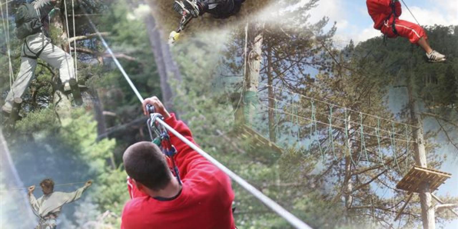 photo montage illustration activités Sherwood Parc