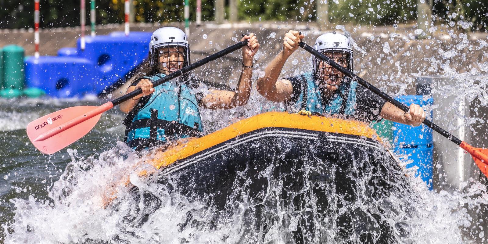 Rafting sur la rivière d'Eaux Vives à Cergy