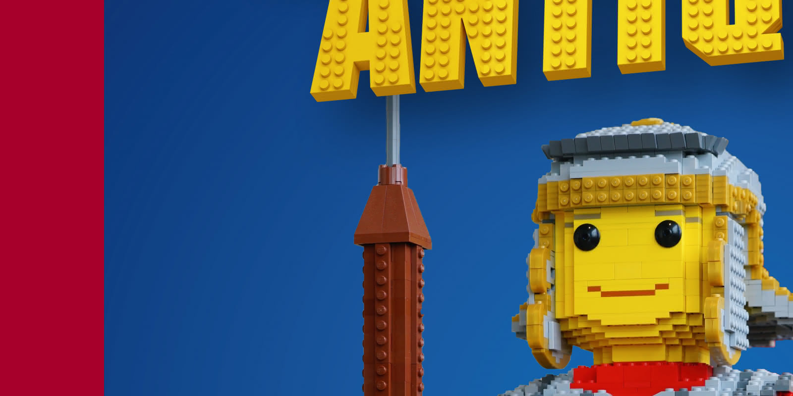 Affiche exposition BRIQU'ANTIQUES, les Romains en LEGO®
