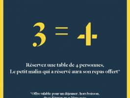Offre 3 = 4 au Restaurant du Golden Tulip