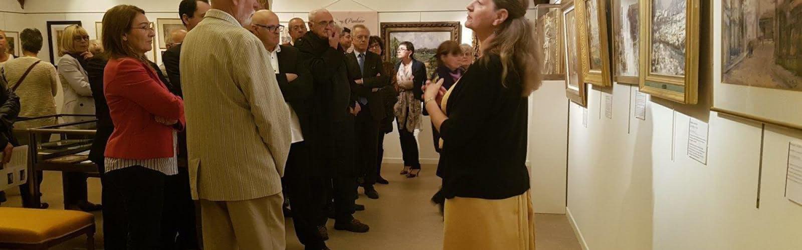 Geneviève Roche-Bernard, conseiller musées pour le Conseil départemental du Val-d'Oise, au Musée William-Thornley