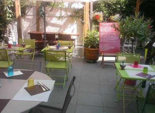 Terrasse du restaurant De Grapp'en Verre