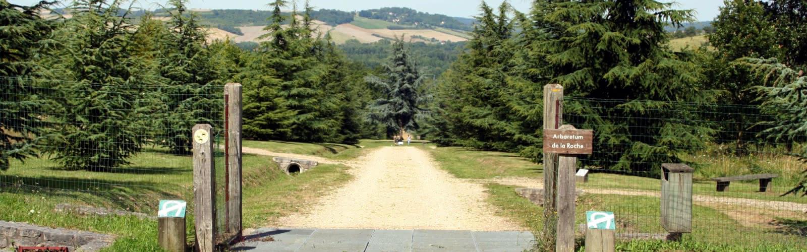 Entrée de l'arboretum de la Roche