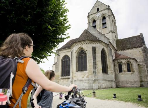 Balade en vélo au bord de l'Oise