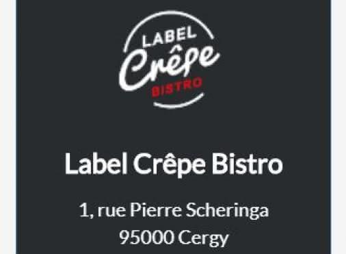Label crêpe bistrot
