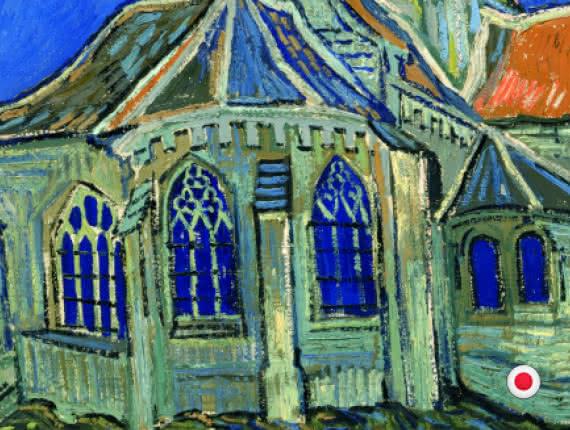 Tableau de l'église d'Auvers par Van Gogh - version japonaise