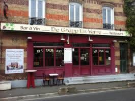 Facade du restaurant De Grapp'en Verre