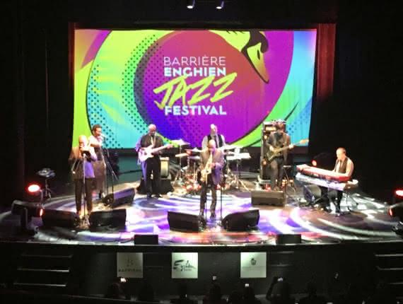 Photo du concert de Macéo Parker au Barrière hôtel pour le Enghien Jazz Festival 2019