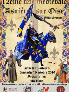 Affiche de la Fête Médiévale d'Asnières-sur-Oise