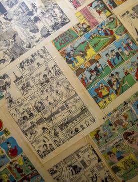 Fond de bande dessinée