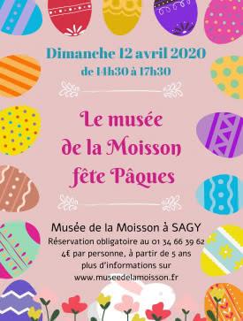 Affiche Le musée de la Moisson fête Pâques