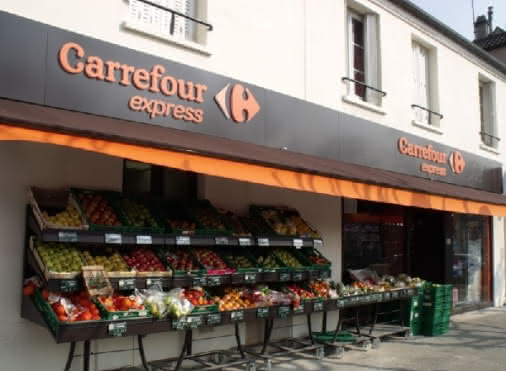 devanture du Carrefour Express