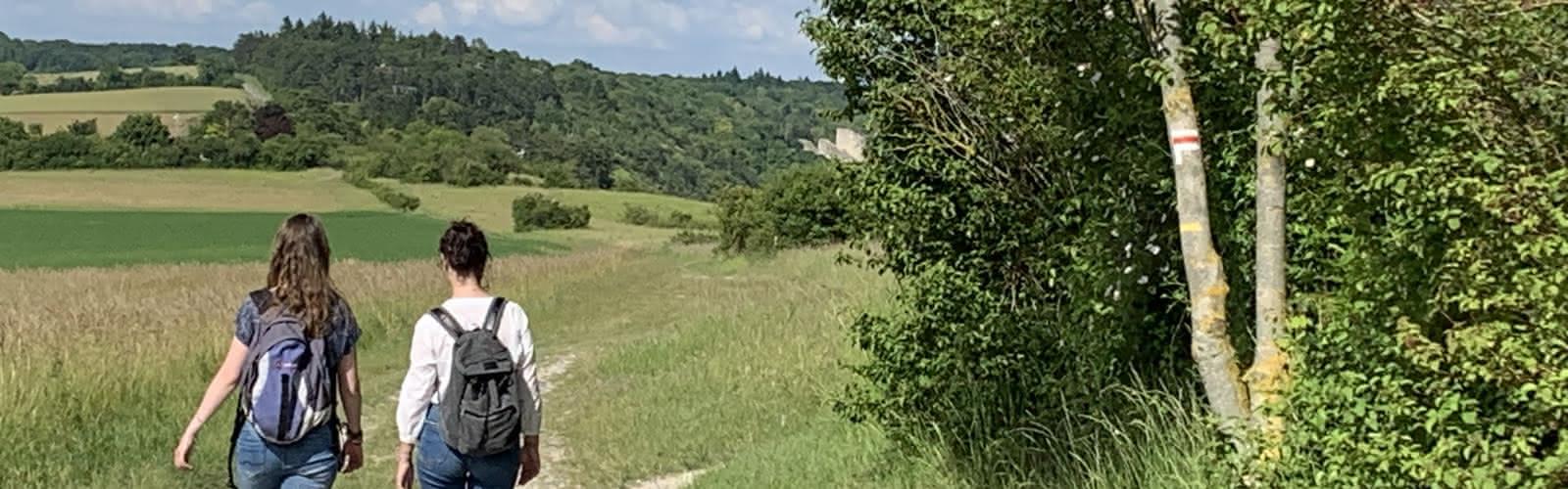 Sur le GR 2 à Gommecourt