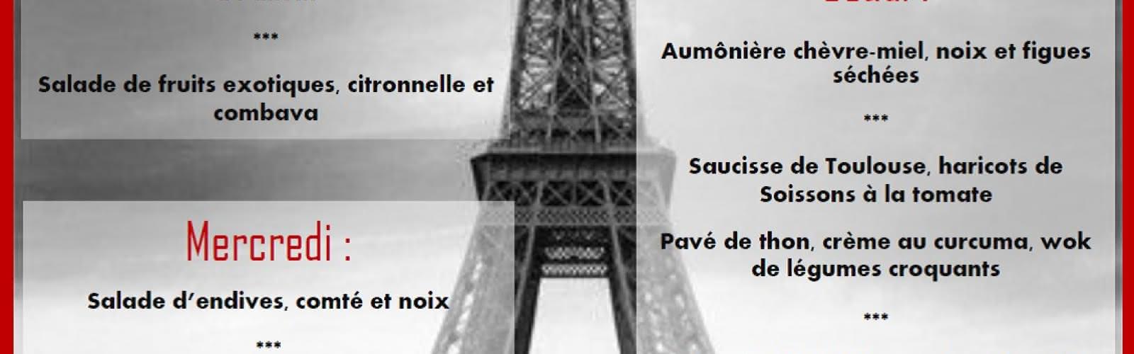 Le menu de la semaine au Before Paris