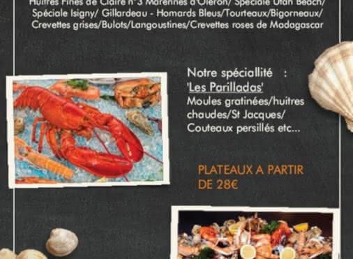Plateaux de fruits de mer à commander