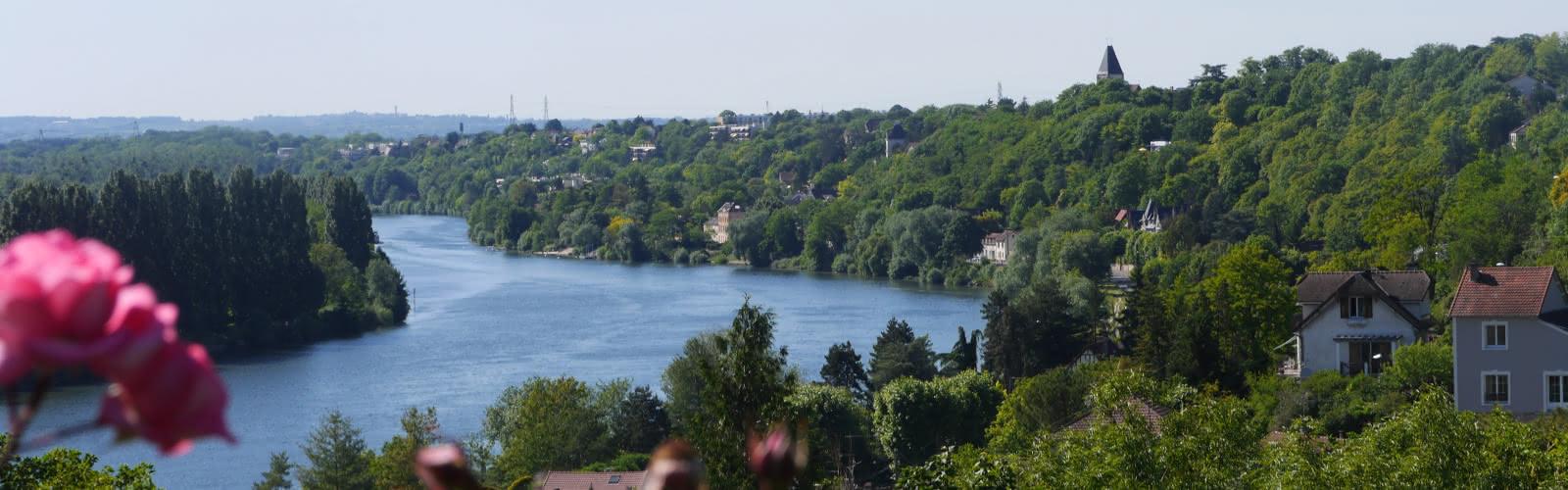 Vue sur la Seine depuis La Frette-sur-Seine