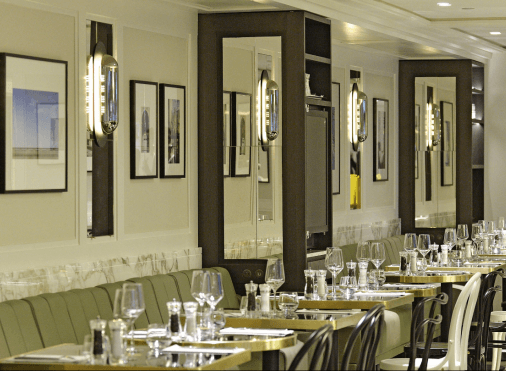 Salle du restaurant The French Taste by Guy Martin