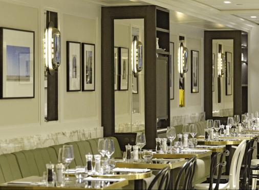 Salle du restaurant The French Taste by Guy Martin