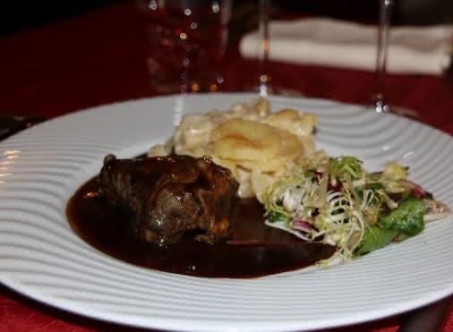 Gambette d'agneau au gingembre, gratin dauphinois