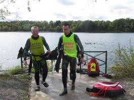 Beaumont-sur-Oise, samedi 28 septembre. La base de plongée de la Fédération de plongée Ile-de-France (FFESSM) a été inaugurée ce samedi, au lac des Ciments.