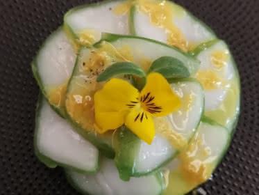 Photo du plat signature au restaurant gastronomique L'Or Q'idée à Pontoise